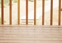 Let the sun and air dry out your deck and siding