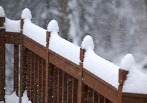Shovel snow off your deck