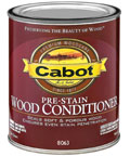 Surface Prepare: Condition the wood with Cabot Pre-Stain Wood Conditioner