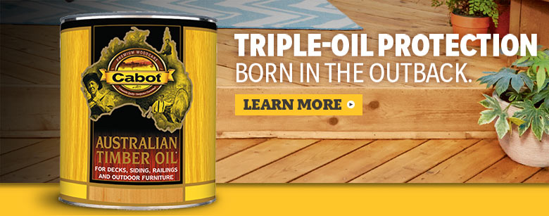 Cabot premium stain Australian timber oil can